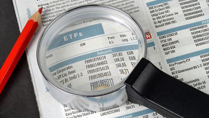 Ein passiver ETF rutscht mit dem Index ab.
