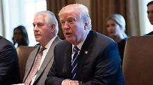 Donald Trump hält wohl an Rex Tillerson fest.