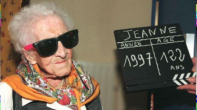 Die Französin Jeanne Calment wurde 122 Jahre alt.