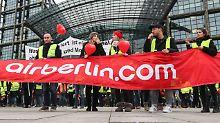 Anspruch auf Arbeitslosengeld: Air-Berlin-Personal verwirrt Arbeitsagentur