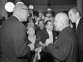 Sie verstanden sich gut: Urho Kekkonen und Nikita Chrutschtschow.