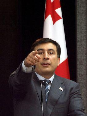 Saakaschwili vor zehn Jahren als georgischer Präsident.