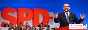 Rede auf Bundesparteitag: Schulz bittet um Entschuldigung und will Neustart