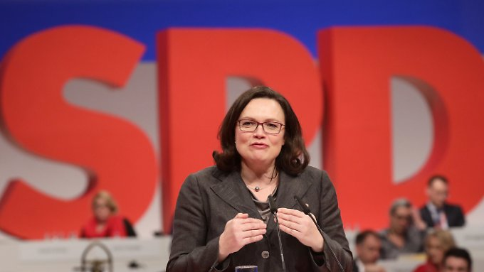 Bittet um Vertrauen: SPD-Fraktionschefin Andrea Nahles.