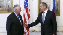 Streit über UN-Blauhelmmission: Tillerson und Lawrow geraten aneinander