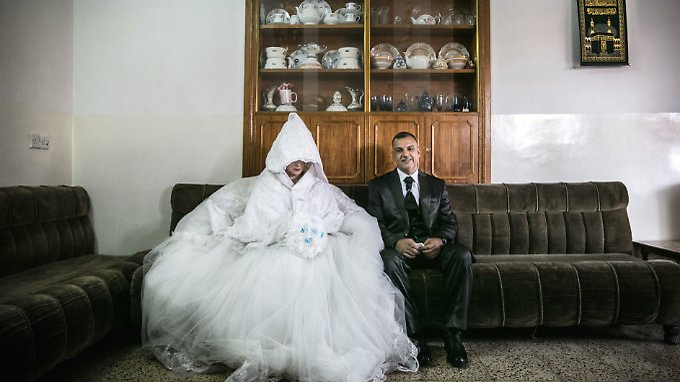 Ein irakisches Brautpaar.