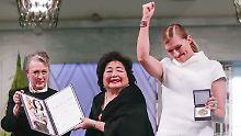Atomwaffengegner in Oslo geehrt: Nobelpreisträger kritisieren Deutschland