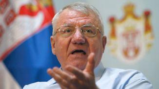 Unbelehrbar: Vojislav Seselj vor wenigen Tagen auf einer Pressekonferenz in Belgrad.