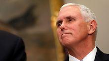 Steuerreform und Proteste: Pence verschiebt seine Nahost-Reise