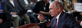 Präsident spricht zur Weltpresse: Putin sieht sich als Stabilitätsgarant