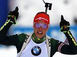 """""""Bin sehr, sehr happy"""": Biathlon-Queen Dahlmeier sprintet zu Olympia"""