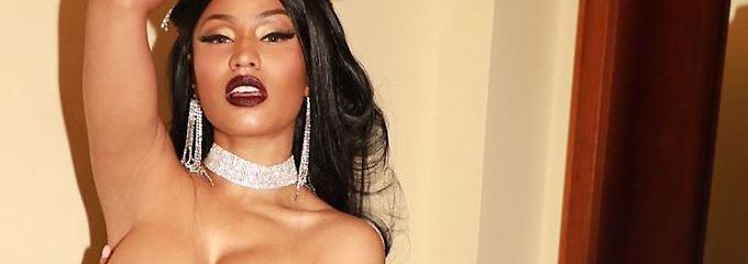 Zum Glück gibt es Nippel-Pasties: Nicki Minaj weiß sich zu benehmen
