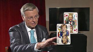"""Koalitionspoker mit Wolfgang Bosbach: """"Dann muss ich natürlich die Kanzlerin ausspielen"""""""
