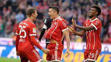 """""""Wir hatten große Lust, ein Zeichen zu setzen."""" Thomas Müller nach der bis dahin besten Saisonleistung der Münchner."""