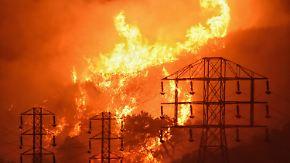 Verbrannte Fläche so groß wie Saarland: Winde fachen Feuer in Kalifornien erneut an