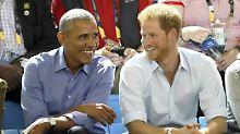 Ein bisschen Spaß muss sein: Prinz Harry interviewt Barack Obama