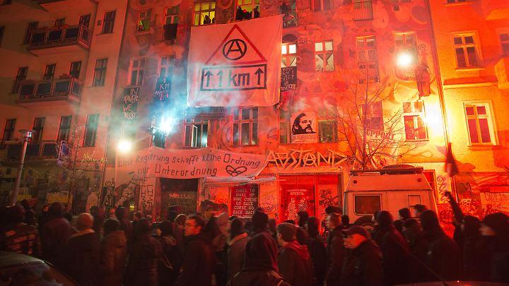 In der Rigaer Straße eskalierten die Proteste in der Vergangenheit regelmäßig.