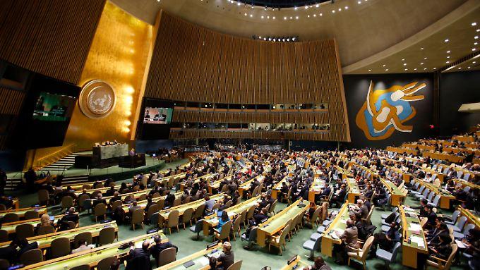 Mit großer Mehrheit nimmt die UN-Vollversammlung die Resolution zum Status Jerusalems an.