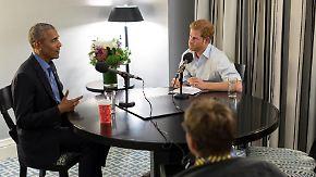 Gespräch über Donald Trump und Twitter: Prinz Harry quetscht Barack Obama aus