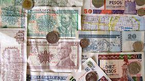 In Kuba gibt es zwei Währungen: den Peso cubano (CUP) und den Peso convertible (CUC).