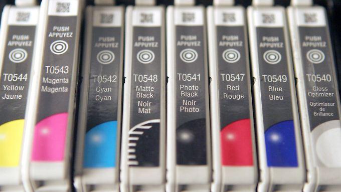 Druckerpatronen von Epson: Der Vorwurf lautet Verbrauchertäuschung.