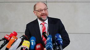 """Statements zum Sondierungsauftakt: Schulz: """"Fünf Tage müssen reichen"""""""
