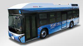 Mit Wasserstoff getriebenen Bussen will Toyota bei den Olympischen Sommerspielen auf die Technik aufmerksam machen.