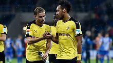 Marcel Schmelzer und Pierre-Emerick Aubameyang spielen seit Jahren zusammen - doch die Eskapaden des Stürmers nerven den Kapitän.