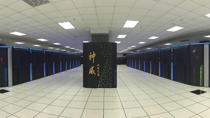 Der Sunway TaihuLight ist der schnellste Computer der Welt. Er steht im chinesischen Wuxi.