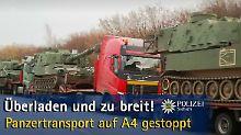 Keine Weiterfahrt in Sachsen: Deutsche Polizei stoppt US-Panzertransport