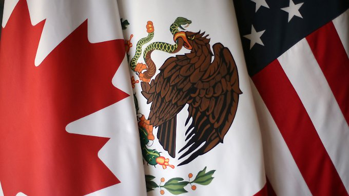 Das Freihandelsabkommen Nafta schafft einen gemeinsamen Binnenmarkt zwischen Kanada, Mexiko und den USA.