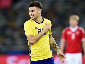Spielt jetzt auch für Schweden: Jordan Larsson.