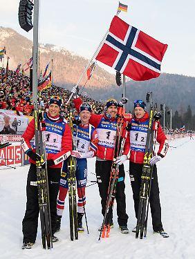 Die besten Skijäger in Ruhpolding waren die Norweger.