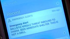 38 Minuten Todesangst: Falscher Raketenalarm sorgt für Panik auf Hawaii