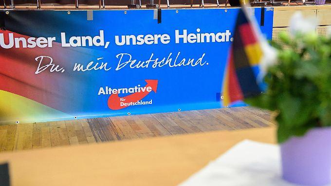 Beim Landesparteitag der AfD im Sommer 2017 in Völklingen.