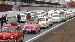 60. Geburtstag des Seat 600: Spanier feiern ihr Lieblingsauto mit einem Weltrekord