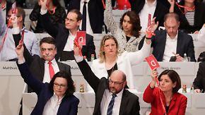 Erleichterung in der Fraktion: SPD stimmt hauchzart für GroKo-Verhandlungen