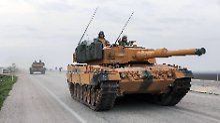 (180121) -- HATAY (TURKEY), Jan. 21, 2018 () -- Turkish armored vehicles run near the Syrian-Turkish border at Reyhanli district in Hatay, Turkey, on Jan. 21, 2018. Turkish ground troops entered Syria s Afrin Sunday on the second day of an offensive against U.S-backed Kurdish militia which should be wrapped up soon, said Turkish President Recep Tayyip Erdogan. () TURKEY-HATAY-TURKISH TROOPS-SYRIA-AFRIN-ENTRY Xinhua PUBLICATIONxNOTxINxCHN