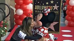 Promi-News des Tages: Heidi Klum knutscht Minnie Mouse auf Walk of Fame