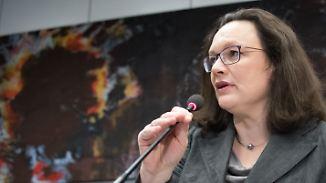 """Andrea Nahles will """"verhandeln, bis es quietscht"""". Die Union hat bereits Zugeständnisse bei Gesundheit und Arbeit signalisiert."""