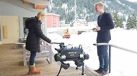 Zukunftsmusik beim Weltwirtschaftsforum: Roboter mischen Davos auf