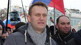 Alexej Nawalny wurde schon mehrfach bei Demonstrationen festgenommen.