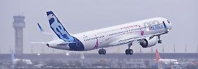 A321LR im Testflug über Hamburg: Kleinster Langstreckenjet von Airbus hebt ab