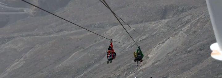 2,8 Kilometer Action in den Emiraten: Längste Seilrutsche der Welt lockt Adrenalinjunkies
