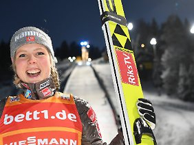 Das Maß der Dinge im Frauen-Skispringen: Maren Lundby.