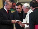 Papst schenkt Friedensengel: Einigkeit bei Erdogan-Besuch im Vatikan
