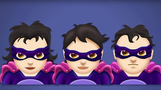 Wie will ich als Schurke aussehen? Mit den neuen Emojis haben Nutzer freie Wahl.