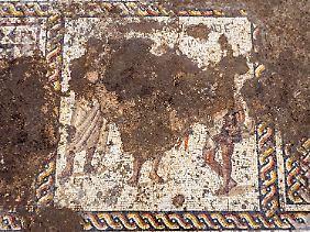 So sieht ein Teil des Mosaiks aus.