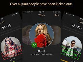 """Models finden Millionäre - und umgekehrt: die """"Luxy""""-App."""