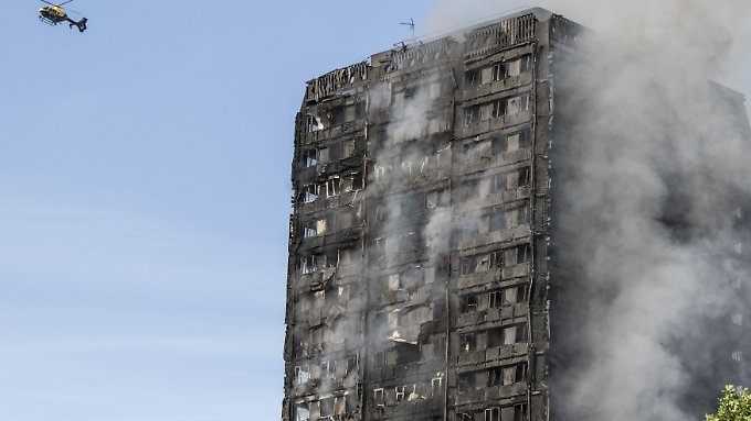 Bei dem Brand im Londoner Grenfell-Tower starben 71 Menschen.